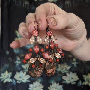 dimitriadis swarsovski crystal earrings
